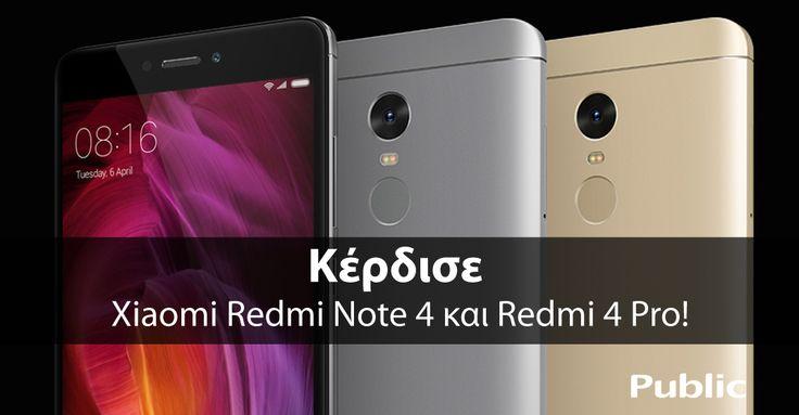Τα Public διοργανώνουν διαγωνισμό και χαρίζουντο 8πύρηνο Redmi 4 Pro με 5'' οθόνη καιτο 10πύρηνο Redmi Note 4 με 5,5'' οθόνη! Αριθμός Νικητών:2 Δήλωσε τη συμμετοχή σου μέχρι και την…