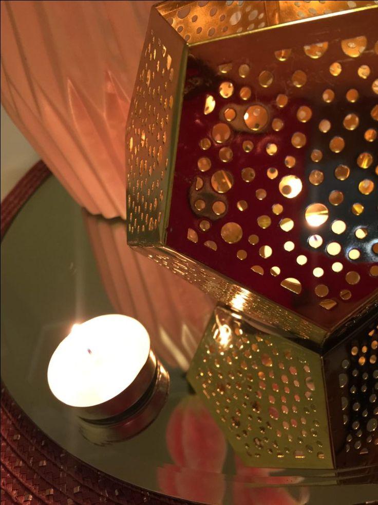 Gold, Mirror, Candles - Wedding Centerpiece