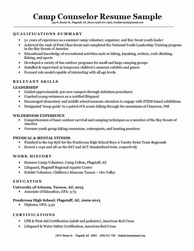 Camp Counselor Resume Description Fresh Camp Counselor Resume Sample Writing Tips In 2020 Leadership Training Programs Resume Examples Medical Coder Resume