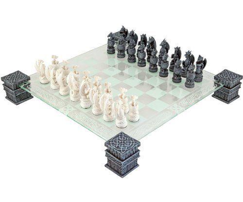 Dragon Fantasy Glass Chess Set Nemesis Now Http Www