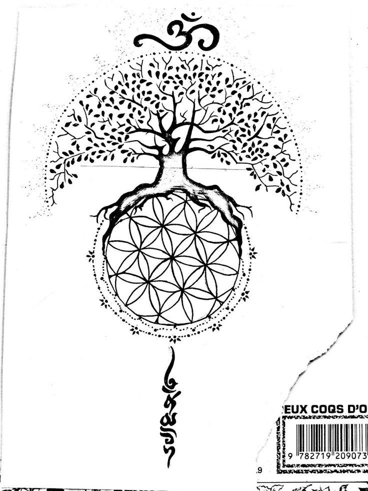 Tattoo tree of life flower of life namaste Ôm