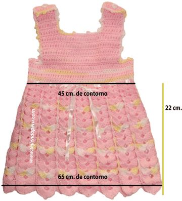 vestido bebe crochet - baby dress crochet