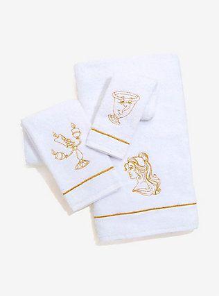 disney beauty and the beast bath towel set