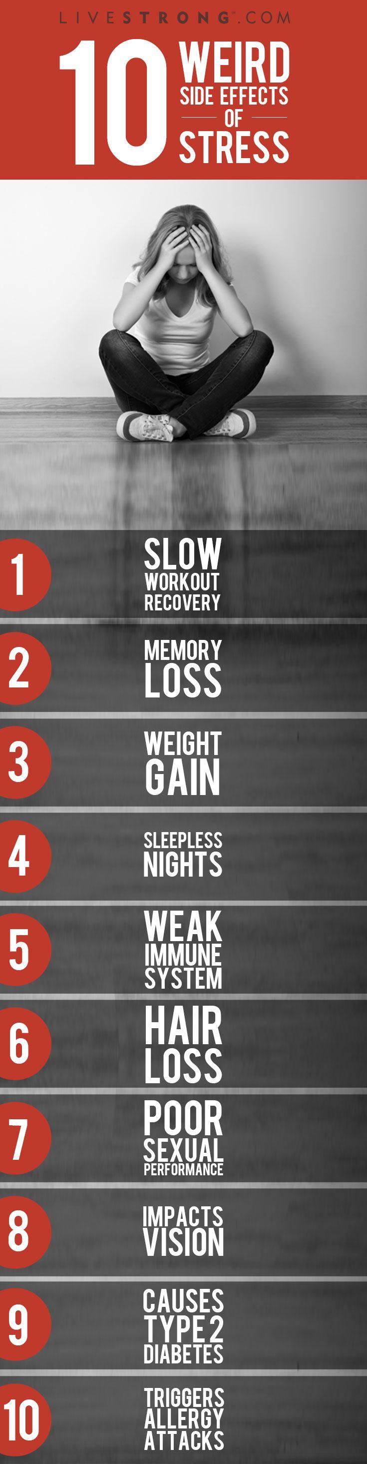The 10 weirdest side effects of stress.