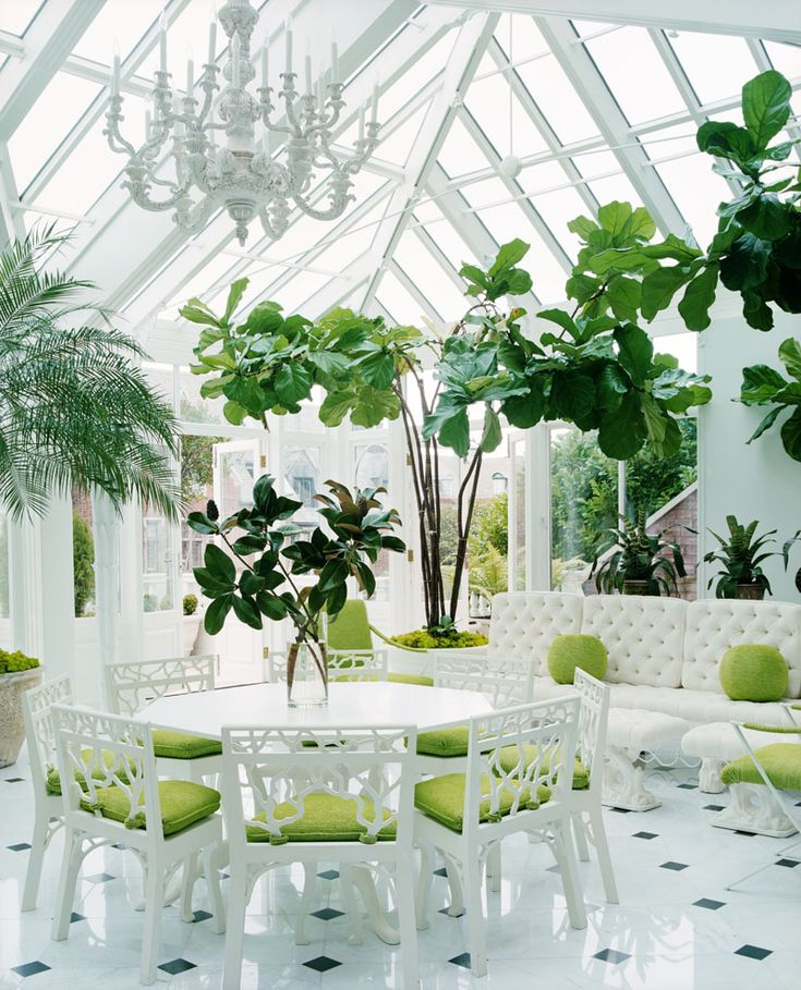 117 best greenhouse cafe images on pinterest greenhouse for Conservatory dining room design ideas