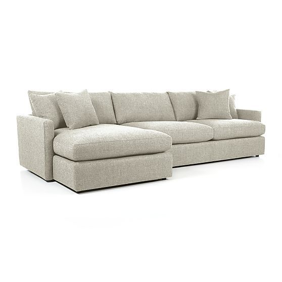 Lounge II 2-Piece Sectional Sofa in Sectional Sofas | Crate and Barrel. deep-seated sectional.
