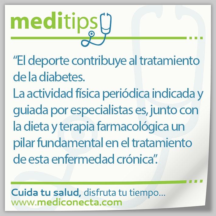 El deporte contribuye al tratamiento de la diabetes.