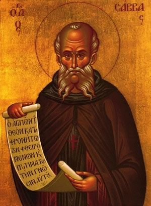 |Saint of the Day – December 5 – St Sabas Abbot – Born in 439 Died 532 #pinterest Saint Sabbas the Sanctified (439–532), a Cappadocian-Greek monk, priest and saint, lived mainly in Palaestina Prima. He was the founder of several monasteries, most notably the one known as Mar Saba. Sabas, born in 439, is one of the most famous monks of Palestine. His father was an officer in the army. When the officer had to go to ........ Awestruck Catholic Social Network