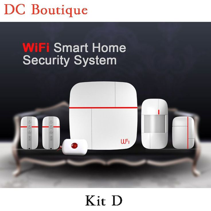 (1 set Kit D) Intelligent WIFI Function Home Security Alarm System  With Andorid&IOS APP Control Wireless Motion magnetic sensor #Affiliate