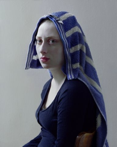 With His Daughter As Muse, Photographer Hendrik Kerstens Emulates Flemish Paintings.
