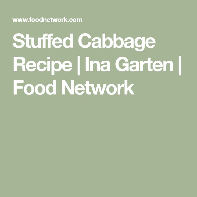 Stuffed Cabbage Recipe   Ina Garten   Food Network