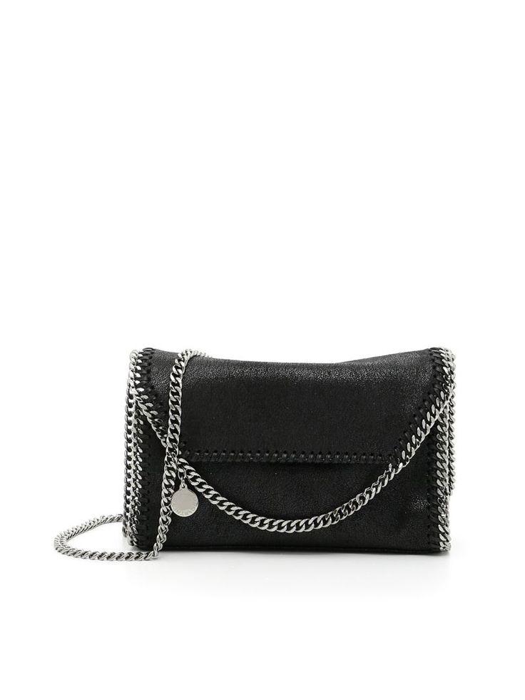 STELLA MCCARTNEY Mini Falabella Shaggy Deer Bag. #stellamccartney #bags #shoulder bags #leather #charm #accessories #lining #