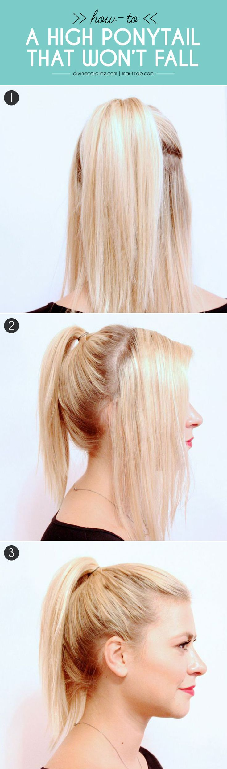 This high ponytail is playful, sexy, and full of body! Use these tips and tricks to make yours look pretty and fresh throughout the day. #hair