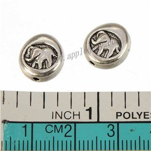 Zinc Alloy Round Animal Beads,Elephant,Plated,Cadmium And Lead Free,Various Color For Choice,Approx 12*11*4.5mm,Hole:Approx 1.5mm,Sold By Bags,No 010072