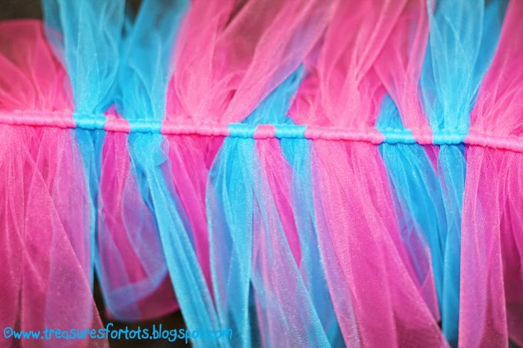 No-sew tutus, plus quick and easy trick to cut tulle