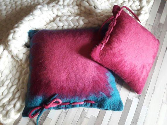 #pillows  #floorseating #Homedecor https://www.etsy.com/listing/270076629/felt-pillows-set-throw-pillows-set
