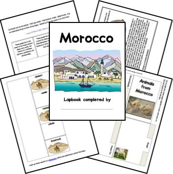 Free Morocco Lapbook (more Africa studies here, free)