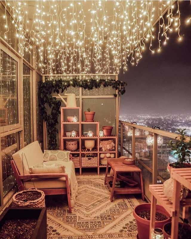20+ Decorate balcony with lights trends