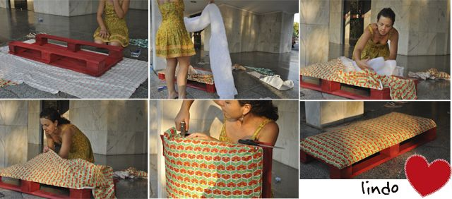 Milonga: Aniversário feito à mão - o puf de pallet