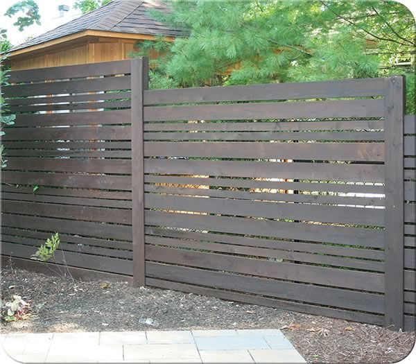 Ashton Cedar Fence Stained Cordova Brown| Fence-All