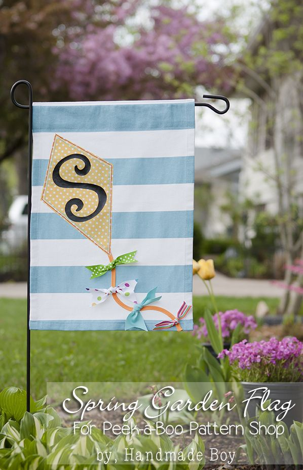 Spring Garden Flag Sewing Tutorial. #PeekabooPages