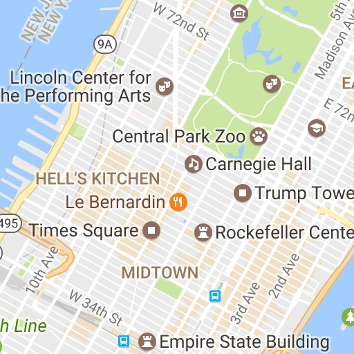 New York Map - Attractions