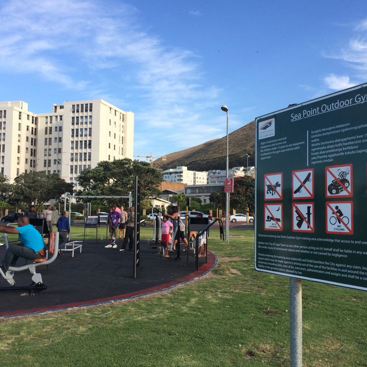 Outdoor gym in Sea Point