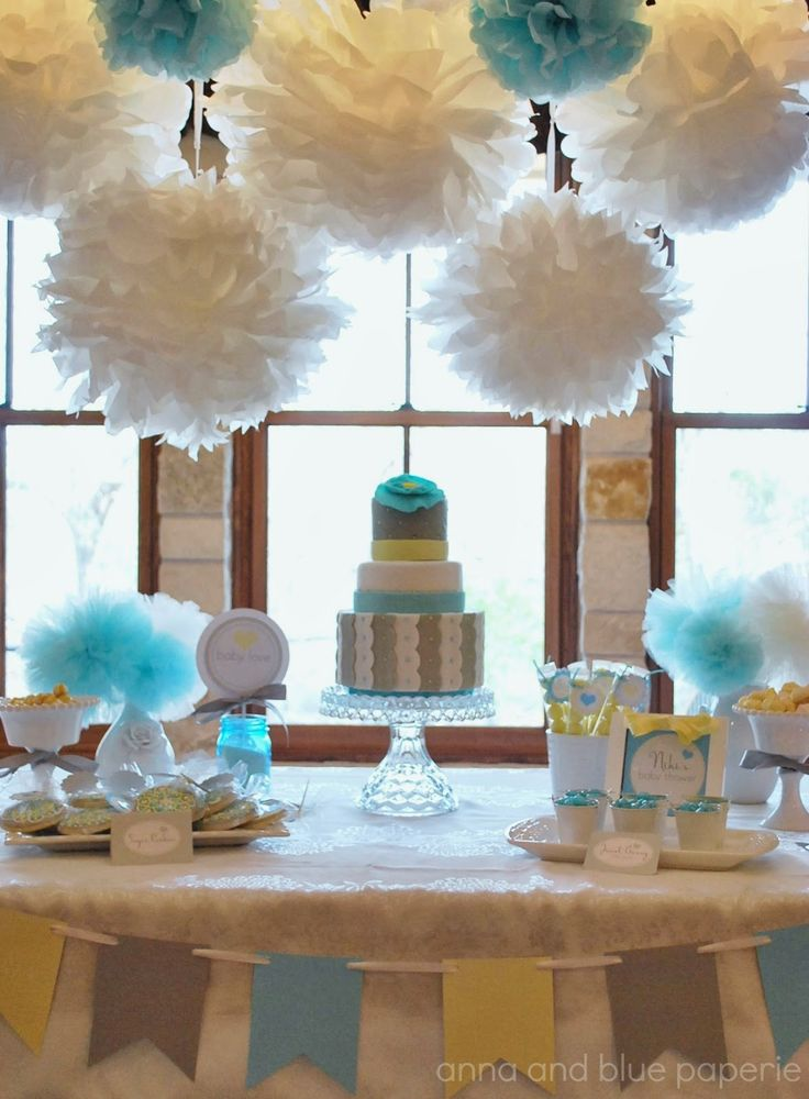 anna and blue paperie: Modern Damask Medallion Baby Shower