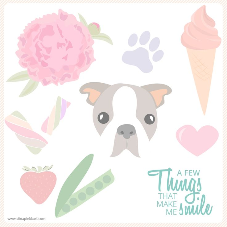 A Few Things That Make Me Smile #pastel #cute #illustration