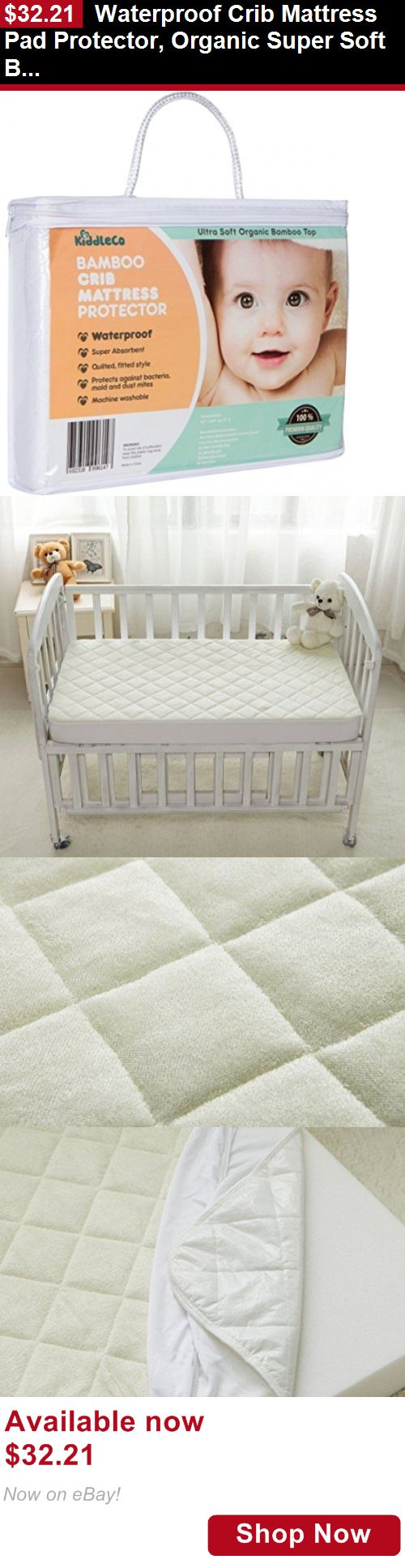Mattress Pads And Covers: Waterproof Crib Mattress Pad Protector, Organic Super Soft Bamboo Quilted Cover BUY IT NOW ONLY: $32.21