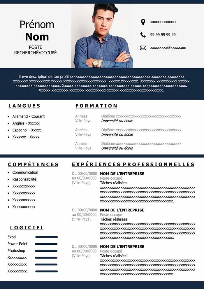 Cv Communication Modele Cv Cv Digital Modele Lettre De Motivation