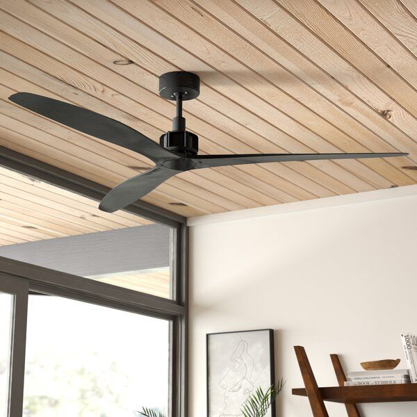 52 Theron 3 Blade Standard Ceiling Fan With Remote Control Living Room Ceiling Fan Farmhouse Ceiling Fan Ceiling Fan With Remote