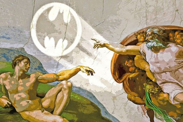 Famous Paintings Transformed into Batman Pop Art