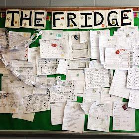 The Fridge bulletin board