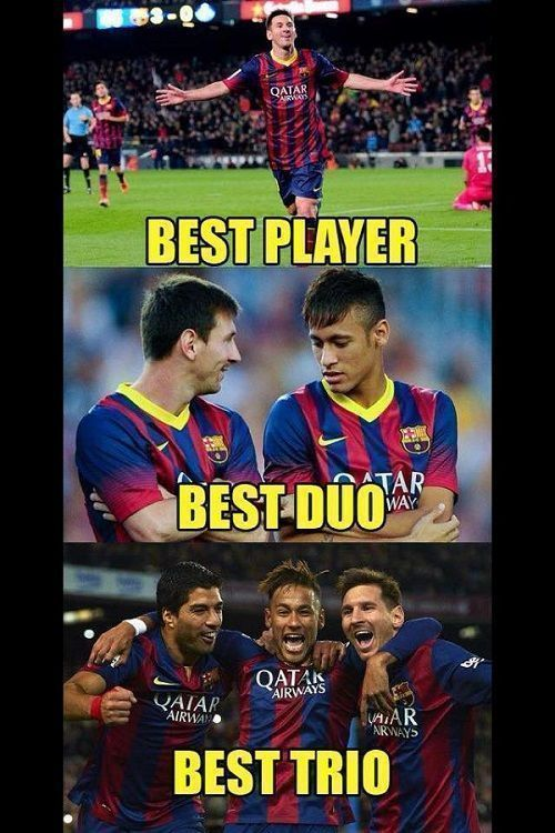 Lionel Messi, Neymar i Luis Suarez najlepszym trio na świecie • Najlepszy piłkarz i jego kompani • Zobacz foto piłkarzy FC Barcelony >>