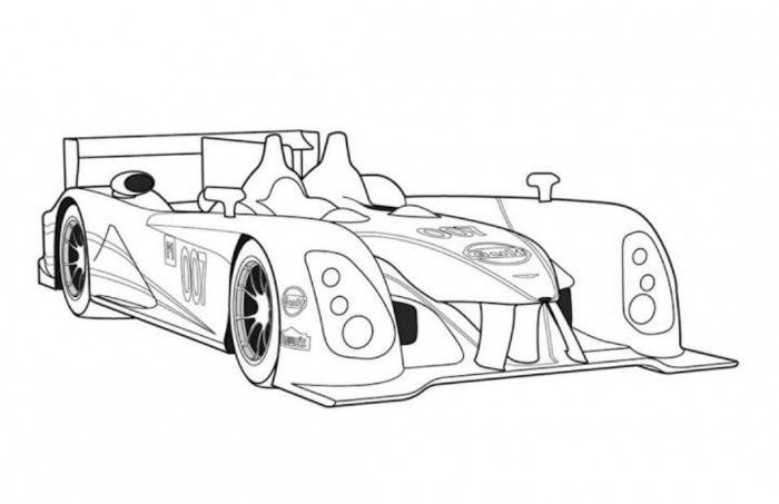 Aston Martin Amr1 Le Mans Prototype Car Coloring Page Free
