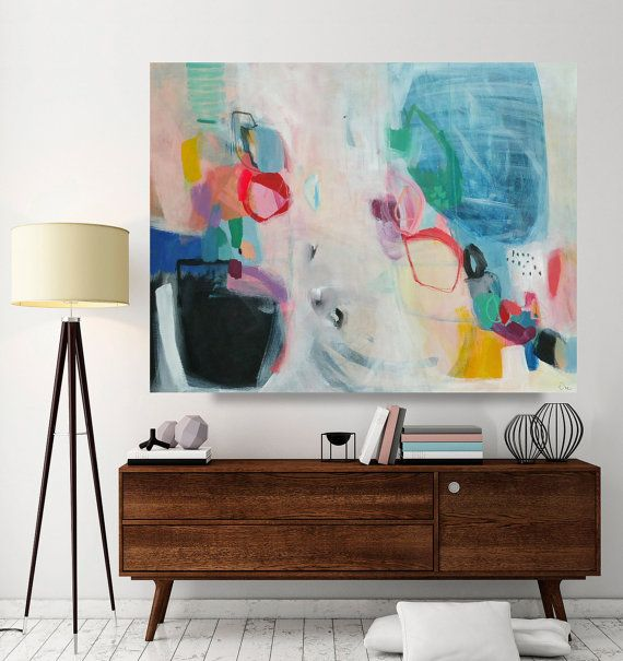 abstract painting large abstract painting large canvas art acrylic painting 36 x 28 inches