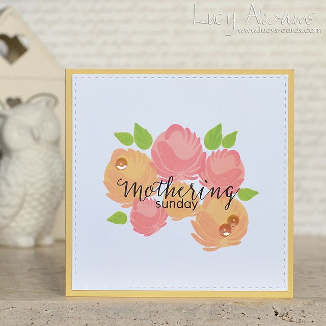 Lucy Abrams used the Simon dye inks on her Mothering Sunday project. Such a sweet card.