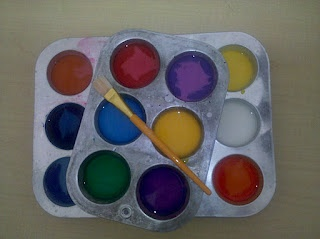 SIDEWALK CHALK - Equal parts corn starch and water, add food coloring for the color.