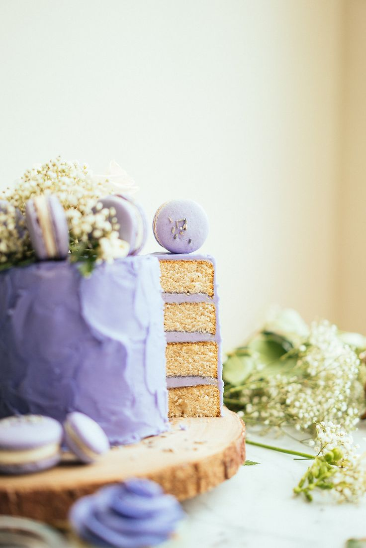 Constellation Inspiration: Lavender Earl Grey Cake with Lavender Macarons