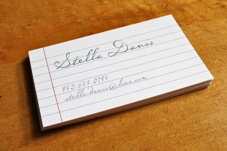 Notebook Calligraphy Business Calling Cards Stuff Etsy