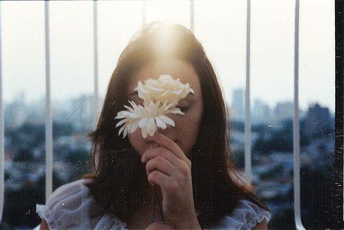 . #girl #flower #photography #vintage