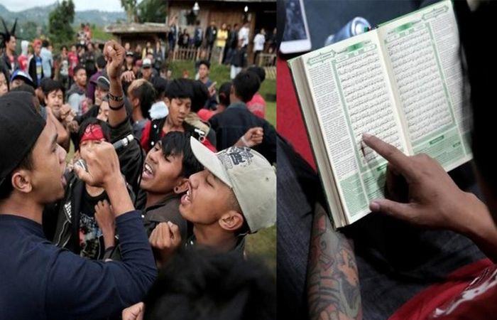 Ratusan anak muda Indonesia sertai Punk Muslim ingin taat beragama dan memperjuangkan isu umat Islam   APABILAmelihat sekumpulan anak mudayang berimej rambut ala Mohawks berjaket kulit dan berseluar jean sudah tentu ada pandangan negatif terhadap mereka.  Ratusan anak muda Indonesia sertai Punk Muslim ingin taat beragama dan memperjuangkan isu umat Islam  Namun berbeza dengan ratusan anak muda dari Indonesia ini apabila menyertai gerakan baharu Punk Muslim yang ingin taat beragama dan…