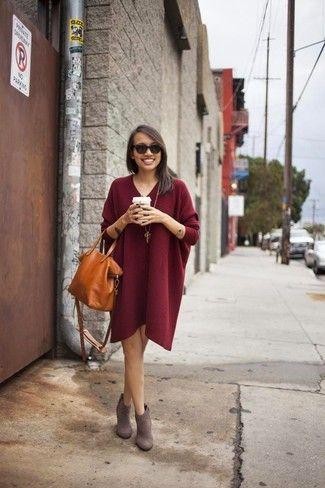 Cómo combinar unas botas grises en 2017 (190 formas) | Moda para Mujer