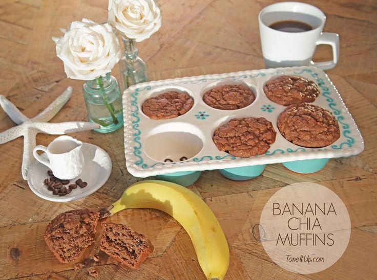 Banana Chia Breakfast Muffins