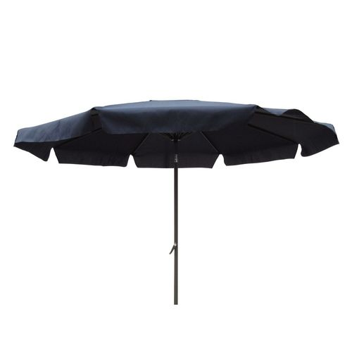 Black Polyester 8-Ft Patio Umbrella with Aluminum Pole and Crank Tilt