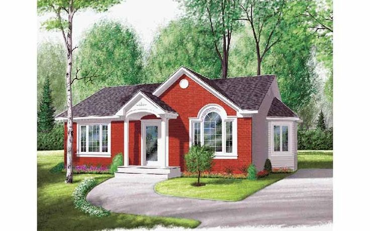 Eplans European House Plan Two Bedroom European 970