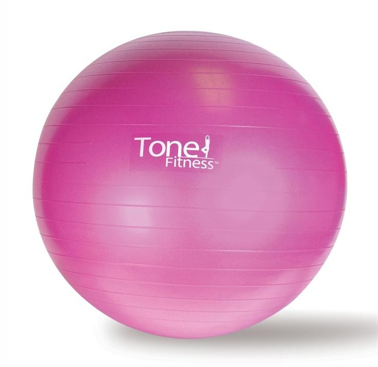 Tone Fitness Burst Resistant Exercise Ball Toning