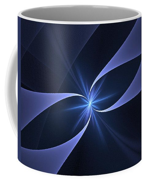 Fractal Coffee Mug featuring the digital art Star Of Hope by Elena Ivanova IvEA  #ElenaIvanovaIvEAFineArtDesign #Decor #Mug #Cup #Gift