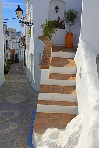Frigiliana, Axarquía región de montañas, provincia de Málaga, Costa del Sol, Andalucía, España, Europa